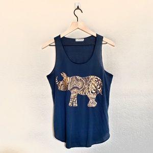 L.A Soul Women's Blue Rhino Tank Top